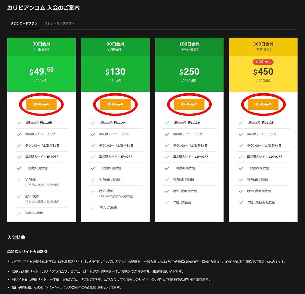月額制アダルト動画サイト「入会の手順②」